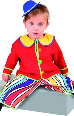 baby clowntje regenboog