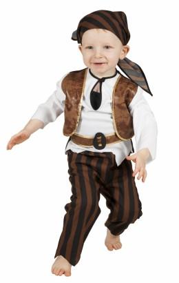Baby piraat bruin/zwart
